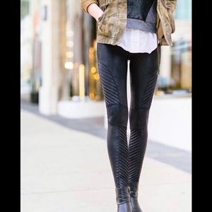 NWT SPANX Faux Leather Moto Legging Black XL